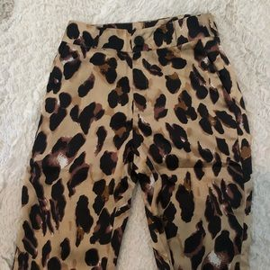 Nasty Gal Cheetah Pants